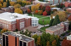 """OSU Campus ~ this is only a partial view...it's like a """"city within the city""""."""
