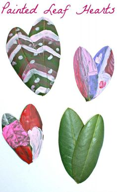These painted leaf arts are a lovely piece of process art that are perfect for preschoolers and kids. These would be a fun arts & crafts project for Valentine's Day. Preschool Art Activities, Preschool Arts And Crafts, Creative Activities For Kids, Fun Arts And Crafts, Summer Activities, Kid Crafts, Group Art Projects, Canvas Art Projects, Projects For Kids