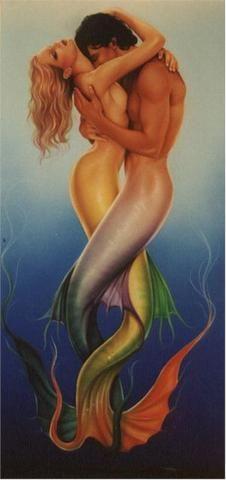 Mercouple ::  Mermaid and Merman love in the ocean