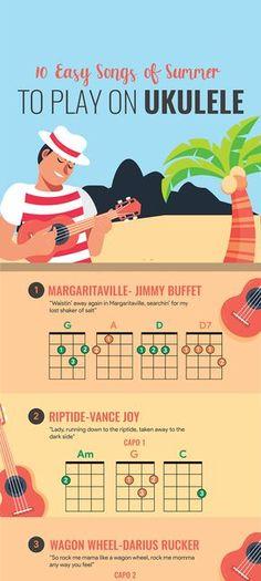 Ukulele Tabs Songs, Ukulele Songs Beginner, Music Chords, Piano Songs, Guitar Songs, Music Lessons, Guitar Lessons, Crush Amor, Summer Songs