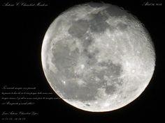 La hermosa luna que engalana esta noche...