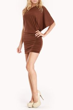 Savee Shimmer Me Silly Dress In Brown - Beyond the Rack