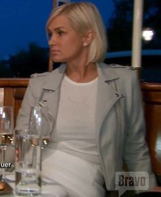 Yolanda Foster's Light Grey IRO Leather Moto Jacket | Big Blonde Hair : Big Blonde Hair http://www.bigblondehair.com/real-housewives/rhobh/yolanda-fosters-light-grey-leather-moto-jacket/