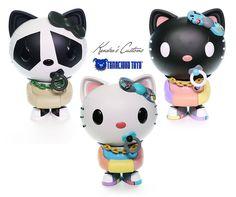Tenacious Toys presents: Three Hello Kitty x Quiccs Customs by Kendra's Customs! #Artist #CustomVinyl #KendraThomas #Quiccs #SpankyStokes