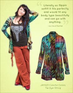 Colorful Colors Tie-Dye Shrug, a five star best seller