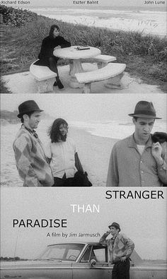 Stranger Than Paradise (1984): A self-styled New York hipster is paid a surprise visit by his younger cousin from Budapest. From initial hostility and indifference a small degree of affection grows between the two. Along with a friend, they eventually end up visiting their aunt in the wastelands of Cleveland and then proceed to Florida where they lose all their money gambling before unwittingly gaining a fortune.