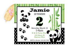 Girl Panda Bear Birthday Invitation, Black and White Invitation, Panda First Birthday, Animal Birthd Bear Birthday, Animal Birthday, Panda Party, Party Places, Panda Bear, Printing Services, Birthday Invitations, Thank You Cards, First Birthdays