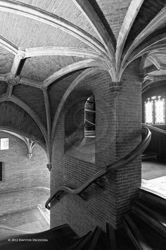 Staircase, Heilig-Bloedbasiliek (Church of the Holy Blood), Brugge, Belgium 2012