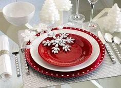 Red and white - Pier 1 imports Christmas table setting