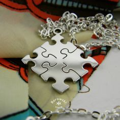 Jigsaw Puzzle  Pendant  free shipping  stainless от BorowskiStore
