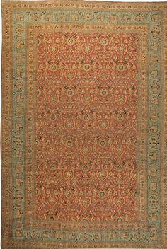 The circa-1920 antique Persian Meshad rug