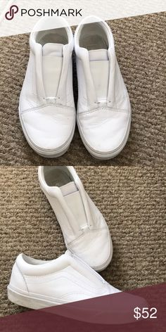 e296621cca7ce5 WHITE LEATHER ULTRACUSH VANS 7.5 wmn twice 6 mens Great condition vans worn  a couple times