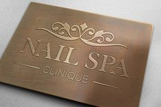 A custom logo designed for a nail spa clinic. logo designer/ logo design agency/ logo design for small business/ beauty salon/ business/ branding/ http://logocoast.com/