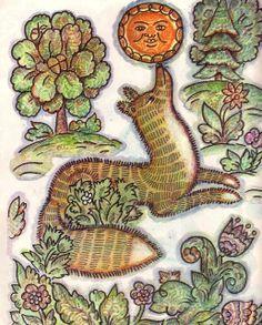 Kolobok fox Russian folk tale Kolobok  Drawings by Igor and Kseniya Ershov
