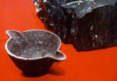 Iron Pot Embedded Inside Coal Lump: 312 million years old.