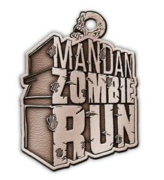 """My work will soon be cast in solid medal! So happy to see this work being used to its full potential. Excited to see it when finished! Go sign up for the Mandan zombie run... even if the zombies getcha... you'll go down with this around your neck! #silverlining use promo code """"save10"""" and save yourself a Hamilton  #zombierun #mandan #northdakota #zombie #halloween #spooky #scary"""