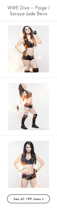 """WWE Diva -- Paige / Saraya-Jade Bevis"" by sarahstardom ❤ liked on Polyvore featuring paige, wwe diva, wwe, wwe paige, home and home decor"