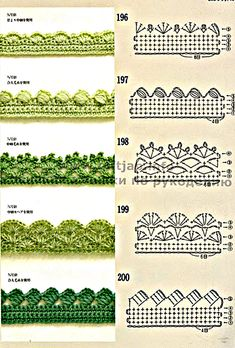 These free crochet tips are always helpful to use in dish towels, napkins or even in swaddling babies or crochet fronhas. handicraft : 128 designs & patterns for trimmings 121 Models of Nozzles and Barred in Crochet for you Crochet spout - How To Forge Th Crochet Border Patterns, Crochet Boarders, Crochet Lace Edging, Crochet Motifs, Crochet Diagram, Crochet Chart, Lace Patterns, Thread Crochet, Crochet Trim