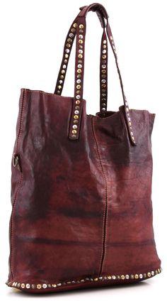 Lavata Tote Leather claret 37 cm