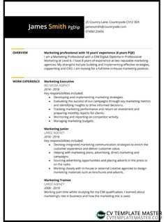 Two page bordered free CV template - CV Template Master