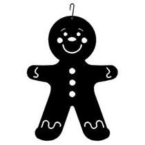 Wrought Iron Gingerbread Boy Silhouette Decoration