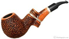 Ser Jacopo Insanus Rusticated Bent Apple (R1) (01) Pipes at Smoking Pipes .com