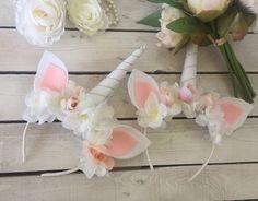 Magical Unicorn Flower Headband,  Pretty Unicorn Flower Crown Fantasy Costume Headband, Pretty Unicorn Headband Costume and Play Dress Up by PurdyGurly on Etsy https://www.etsy.com/listing/476235682/magical-unicorn-flower-headband-pretty