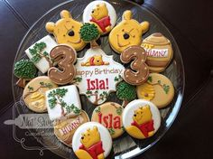 Adorable pooh cookies by nat sweets