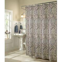 29.99, soft purple/slate blue.  m.style Istanbul Shower Curtain - BedBathandBeyond.com