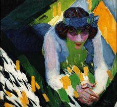 Kupka (Frantisek Kupka, dit), Ruban bleu, 1910 Centre Pompidou Virtuel - Ruban bleu
