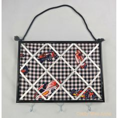$20.00 Racing car French style notice board with hooks by craftymissanne on Handmade Australia