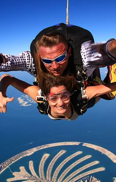 Skydiving in Dubai!! Click through for article on the best destinations for skydiving around the world! ---> http://www.mappingmegan.com/best-places-to-skydive-around-the-world/