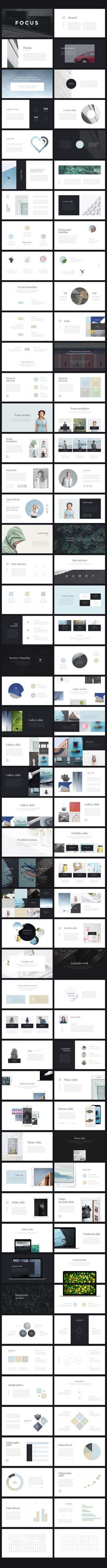 Focus PowerPoint Presentation by Entersge on @creativemarket