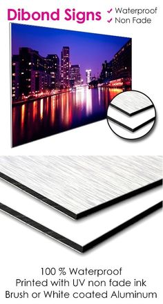 Vital Concept print provides high quality Dibond Aluminium Signs. #Dibond is made up of a piece of toughened plastic between two layers of brushed #aluminium making it highly durable and corrosion resistant.