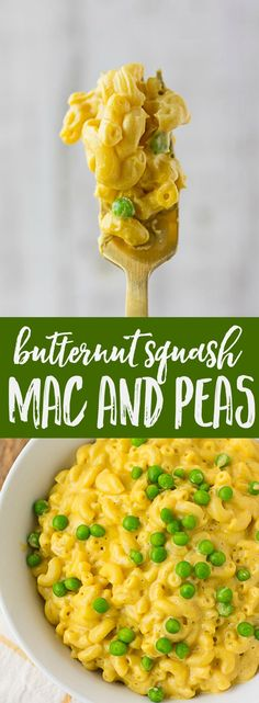 Vegan Butternut Squash Mac and Cheese with Peas | Nora Cooks | Oil-free, Gluten-free option.