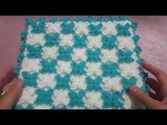 ﺍﻟﻤﺮﺑﻌﺎﺕ ﺍﻟﻤﺎﺋﻠﺔ المتلألئة بالكريستال: ﺣﺎﺷﻴﺔ ﻛﺮﻭﺷﻴﻪ للجلابة و القفطان Beaded Crochet square border - YouTube