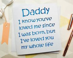 Daddy Card Fathers Day Birthday For Father