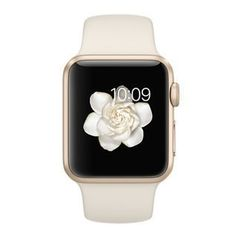 Apple Watch Series 1, 38mm Gold Aluminum Case with Antique White Sport Band - Oceanside Store
