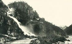 Hordaland fylke Odda kommune Låtefoss Utg C.A. Erichsen tidlig 1900-tall