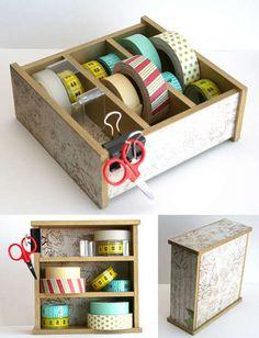 K & Co Mini Storage  Ooooooh washi tape storage!!!