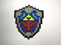 Legend of Zelda, Links hylian shield, magnet or as is, fuse beads.. $4.50, via Etsy.
