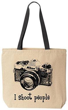 I shoot people (Nikon) Camera Photography Canvas Tote Bag (Black Handle) by BeeGeeTees BeeGeeTees http://www.amazon.com/dp/B00MR1J8TY/ref=cm_sw_r_pi_dp_xFuzvb0K4N1XG