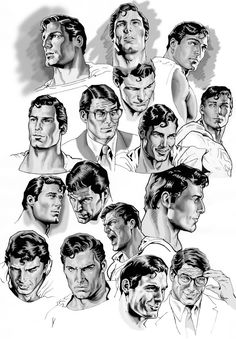 Christopher Reeve as Clark Kent/Superman - art by Nacho Castro
