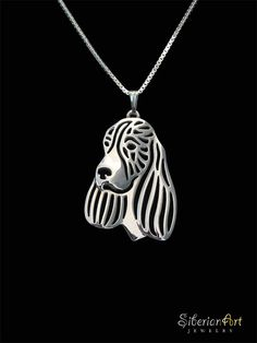English Springer Spaniel  sterling silver by SiberianArtJewelry
