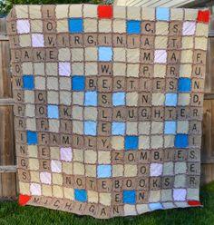 Scrabble Quilt ... drôle non ???