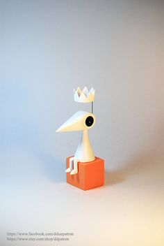 Crow Ida with crown. Monument Valley Game Figure. on Etsy, $44.65