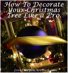 Awesome tips by professional Christmas Tree decorators.