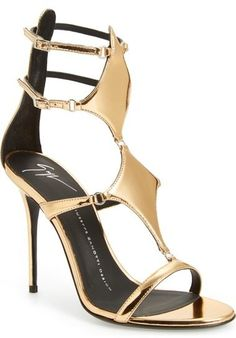 Giuseppe Zanotti Metallic Strappy Sandal. Shop From Blog www.zipporahaanael.com #SexyCulturedCaring #ReadShopGiveBack