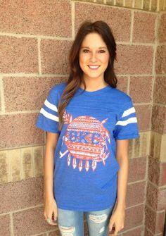 OKC aztec shield royal jersey t-shirt | Lush Fashion Lounge #lushfashionlounge #okcthunder #okc