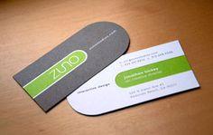 business card with unique shape